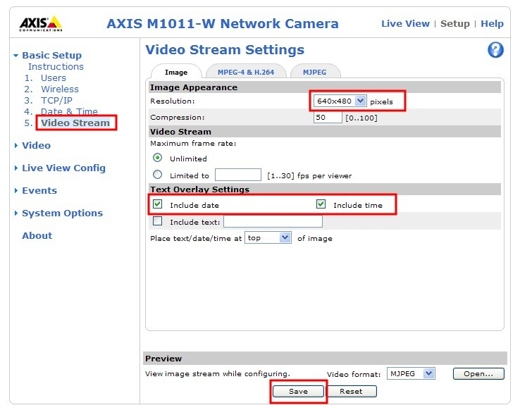 User guide: Setup AXIS Network IP Camera for motion
